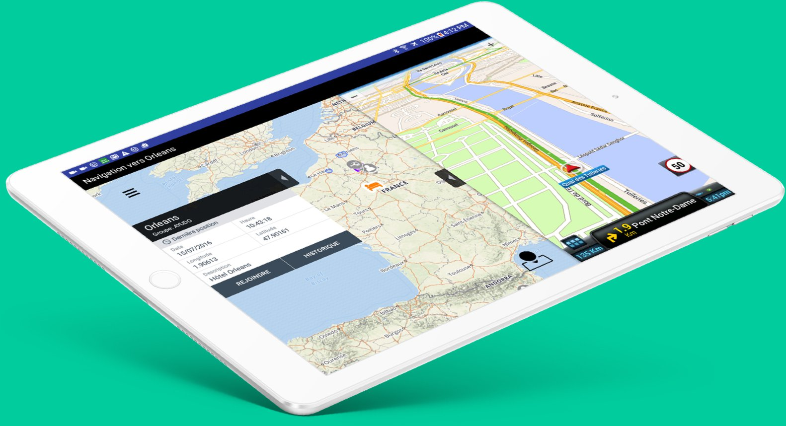 application mobile ios android gps